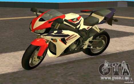 Honda Fireblade 1000RR pour GTA San Andreas sur la vue arrière gauche