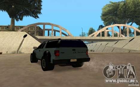 Ford Velociraptor für GTA San Andreas Rückansicht