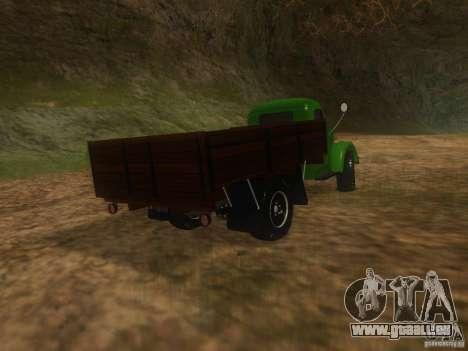 GAZ-63 für GTA San Andreas zurück linke Ansicht