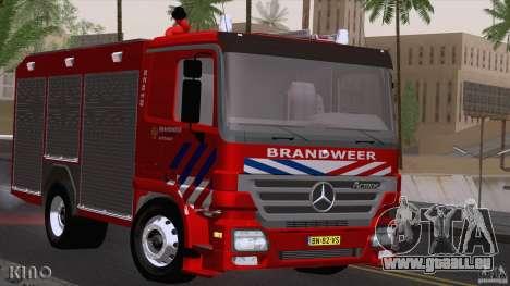 Mercedes-Benz Actros Fire Truck pour GTA San Andreas