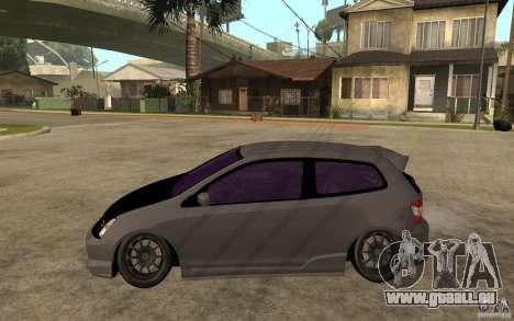 Honda Civic Type-R pour GTA San Andreas laissé vue