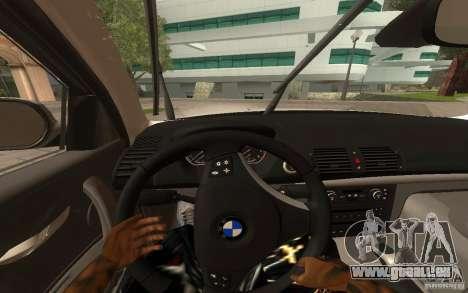 BMW 120i pour GTA San Andreas vue arrière