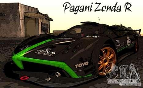 Pagani Zonda R für GTA San Andreas Innenansicht