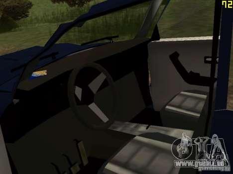 Moskvich zerfetzt für GTA San Andreas Rückansicht