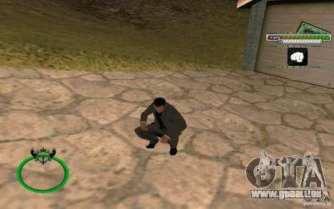 Homme d'affaires de nouvelle peau HD pour GTA San Andreas troisième écran