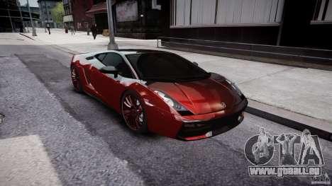 Lamborghini Gallardo Superleggera 2007 (Beta) pour GTA 4 est une vue de l'intérieur