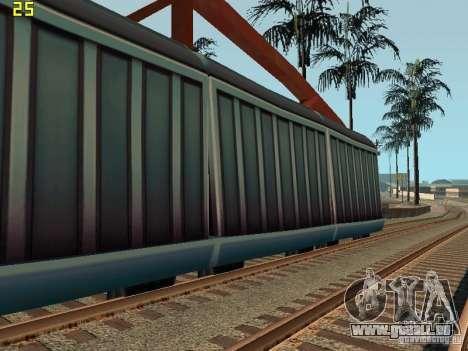 Wagons de marchandises des surfeurs métro pour GTA San Andreas laissé vue