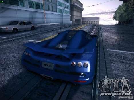 Koenigsegg CCXR Edition pour GTA San Andreas vue intérieure