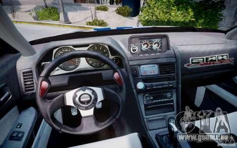 Nissan Skyline GT-R R34 2F2F pour GTA 4 Vue arrière