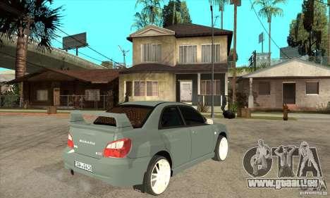 Subaru Impreza WRX STI pour GTA San Andreas vue de droite