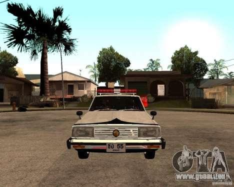 Nissan Skyline 2000 GT Police pour GTA San Andreas vue de droite