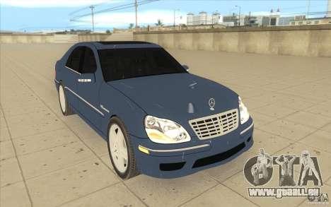 Mercedes-Benz S-Klasse pour GTA San Andreas vue arrière