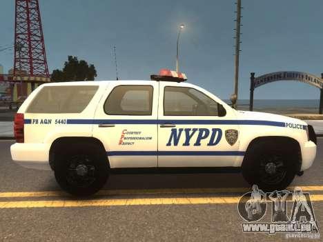 Chevrolet Tahoe NYPD V.2.0 pour GTA 4 est un droit