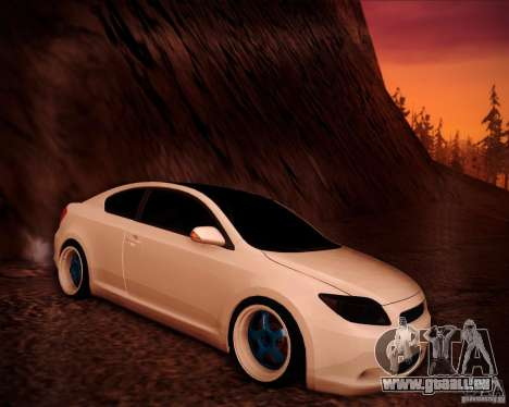 Scion tC Blue Meisters für GTA San Andreas Innen