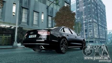 Audi A8 LED 2012 pour GTA 4 Vue arrière de la gauche