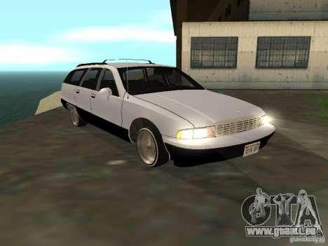 Chevrolet Caprice Wagon 1992 pour GTA San Andreas sur la vue arrière gauche