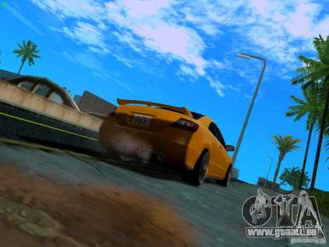 Honda Civic Si JDM für GTA San Andreas zurück linke Ansicht