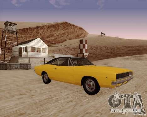 Dodge Charger RT 1968 Bullit clone für GTA San Andreas Rückansicht