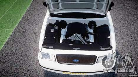 Ford Crown Victoria US Marshal [ELS] pour GTA 4 est une vue de l'intérieur