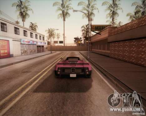 Pagani Zonda F V1.0 pour GTA San Andreas laissé vue
