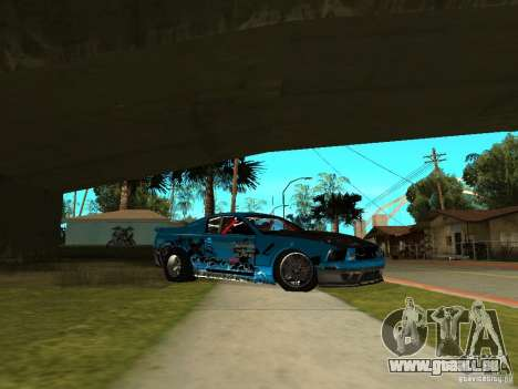 Ford Mustang Drag King für GTA San Andreas zurück linke Ansicht
