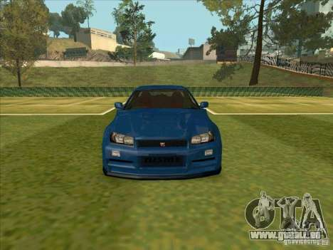 Nissan Skyline GT-R R34 from FnF 4 pour GTA San Andreas vue intérieure