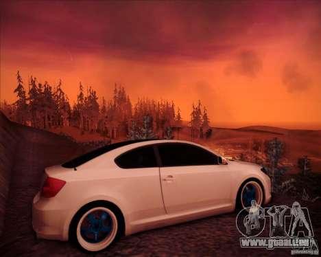 Scion tC Blue Meisters für GTA San Andreas rechten Ansicht