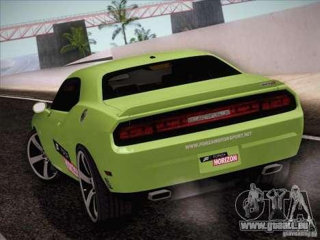 Dodge Challenger SRT8 2010 pour GTA San Andreas sur la vue arrière gauche