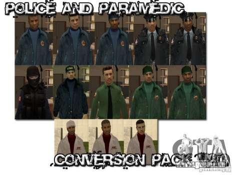 Police and Paramedic Conversion Mod 2.0 pour GTA San Andreas troisième écran