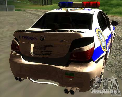 BMW M5 E60 Police pour GTA San Andreas moteur
