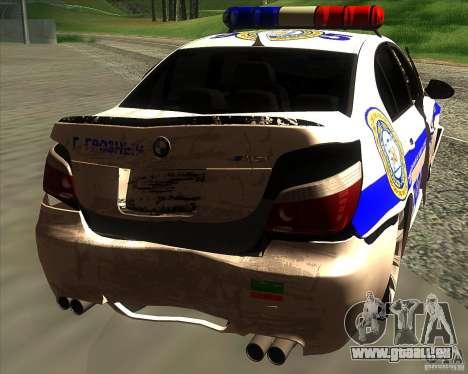 BMW M5 E60 Polizei für GTA San Andreas Motor