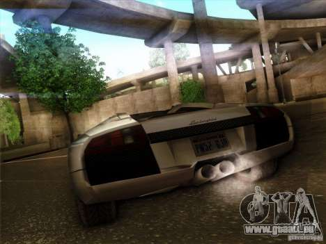 Lamborghini Murcielago Roadster pour GTA San Andreas vue arrière