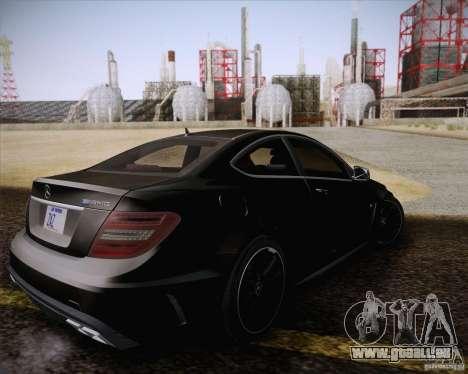 Mercedes-Benz C63 AMG Black Series pour GTA San Andreas vue intérieure