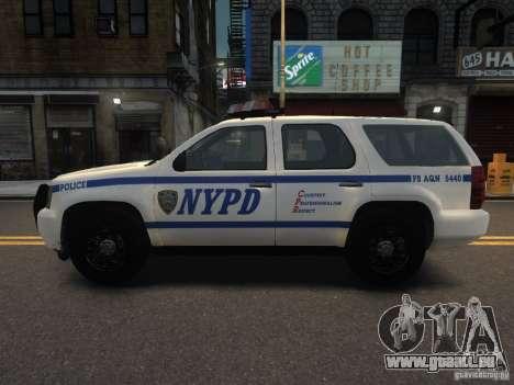 Chevrolet Tahoe NYPD V.2.0 für GTA 4 linke Ansicht