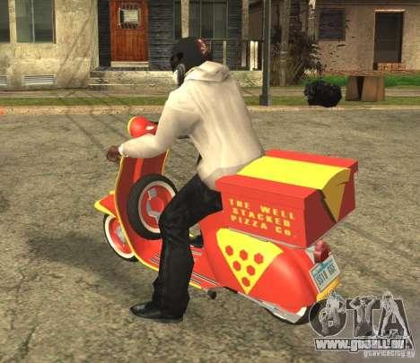 Vespa N-50 Pizzaboy für GTA San Andreas linke Ansicht