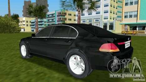 BMW 7-Series 2002 pour GTA Vice City sur la vue arrière gauche