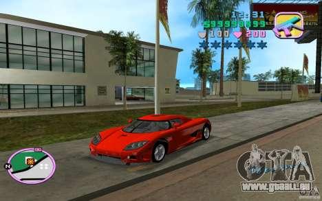 Koenigsegg CCX pour une vue GTA Vice City de la gauche