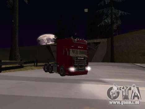 Scania 460 pour GTA San Andreas vue intérieure