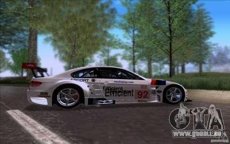 BMW E92 M3 pour GTA San Andreas laissé vue