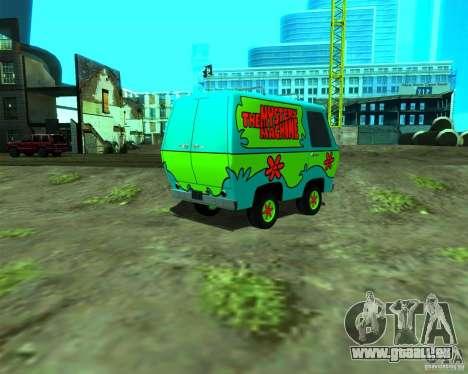 Mystery Machine pour GTA San Andreas laissé vue