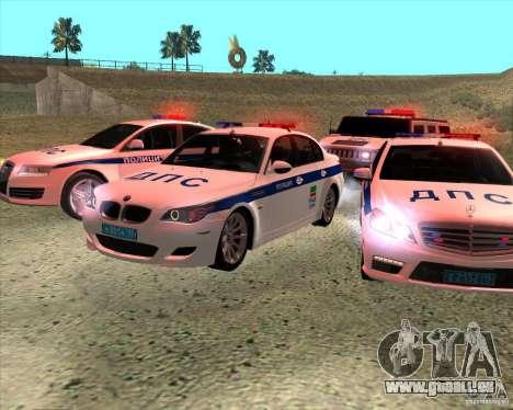 BMW M5 E60 DPS pour GTA San Andreas vue arrière