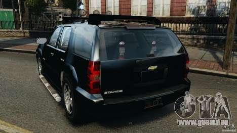 Chevrolet Tahoe LCPD SWAT pour GTA 4 Vue arrière de la gauche