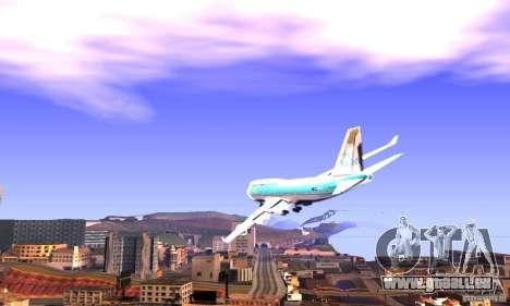 Boeing 747 KLM für GTA San Andreas linke Ansicht
