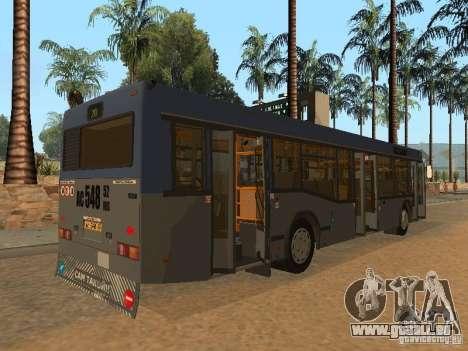 MAZ 103 für GTA San Andreas obere Ansicht