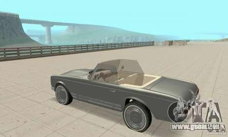 Mercedes-Benz 280SL (Matt) pour GTA San Andreas vue arrière