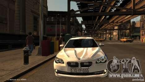 BMW 550i Azeri Police YPX pour GTA 4 Vue arrière