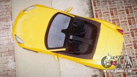 Ferrari California v1.0 pour GTA 4 Vue arrière