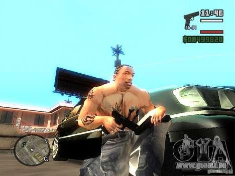 Carbon Glock 17 pour GTA San Andreas deuxième écran