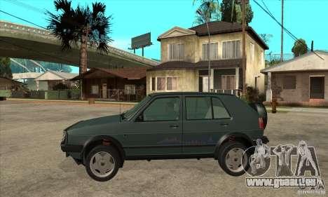 Volkswagen Golf Country MkII Syncro 4x4 1991 für GTA San Andreas linke Ansicht