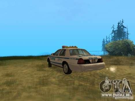 Ford Crown Victoria NYPD Police für GTA San Andreas rechten Ansicht